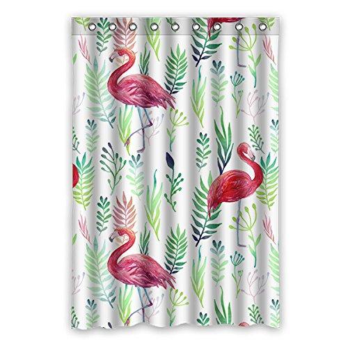 Wild costumes 120 cm X183 cm (121,9 x 182,9 cm) Badezimmer Dusche Vorhang, GM 's New Fashion Custom Design Loving Flamingos Wasserdicht Duschvorhang Schimmel, Polyester, E, 48