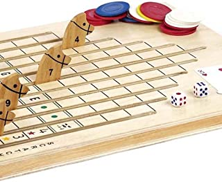 Bello Games Deluxe Horse Racing Game with Cards/Chips & Dice