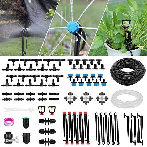 Emooqi Kit di Irrigazione a Goccia, 40M+3M Micro Drip Irrigation Kit Irrigazione Automatica...