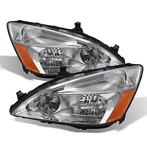 ACANII - For 2003-2007 Honda Accord 2/4Dr Sedan Coupe Headlights Headlamps Driver + Passenger Side
