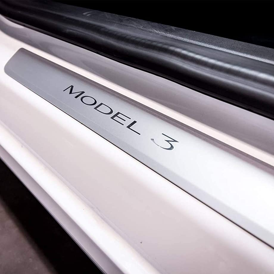 BASENOR Tesla Model 3 Door Sill Wrap Clear Protection Kit Car Stickers for Model 3 (2 Pieces)
