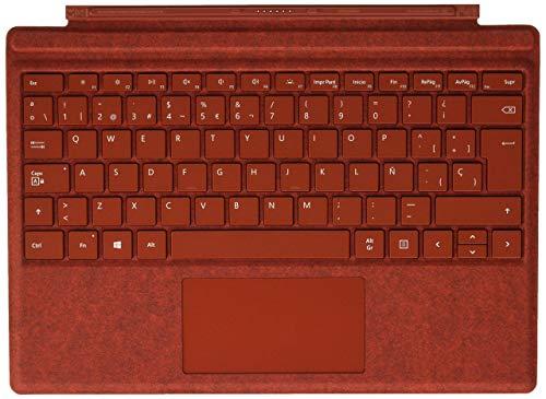 Microsoft Surface Pro Type Cover - Funda con teclado en español, rojo (para Surface Pro)