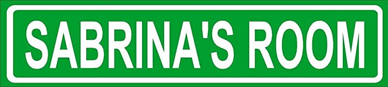 SABRINA ROOM Green Aluminum Street Sign 4 X18 Great D Cor For Any Room Girls Name
