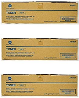 A202031 TN217 Konica Minolta OEM Toner Cartridge 3 Pack, 17500 Page-Yield Per Ctg, Black