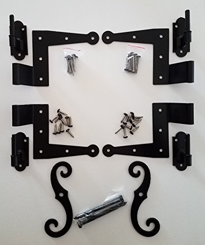 """Stainless Steel Colonial Shutter Hardware (1/2"""" Offset) Complete Window Kit"""