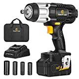 "Best Cordless Impacts - 20V Cordless Impact Wrench with 1/2"" Chuck, Strong Review"