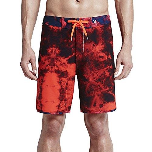 Hurley Men's Phantom Shibori Boardshorts Bright Crimson Swimsuit Bottoms