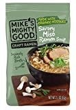 Mike's Mighty Good Craft Ramen Savory Miso Soup, 2.1 Ounce Pillow Pack (7 Count) Non-GMO, Made with Steamed Organic Noodles Made From Scratch, Optional Organic Oil Packet Included, Palm Oil-Free