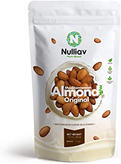 NULLIAV | Mediterranean Almond Milk Powder Original | 15.5 Oz (440g) | Makes 1.2 GAL