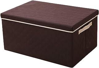 Panier de rangement Boîte de Rangement en Tissu for Pliant Une Grande boîte de Rangement for vêtements (Color : Brown, Siz...