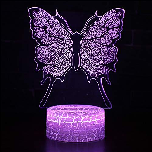 Schmetterling 3D LED Nachtlicht Optische Täuschung Lampe Bunt 16 Farben Fernbedienung intelligent Tischlampe Schreibtischlampe valentinstag Kreative Geschenk Home Office Dekorationen geschenk