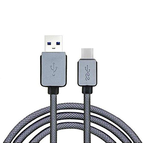 Fulltime® Typ C USB3.1 stark und haltbar Geflochtene Male-Datenkabel Ladekabel für Oneplus 2 LG Nexus 5X Nexus 6P und andere Typ-C Unterstützte Smartphones & Tablets (1.5 Meter)