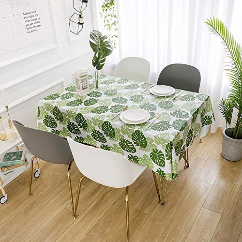 Ropiaece Mantel Antimanchas Moderno de 140 x 200 cm, Tela de Hule de Mesa Rectangular plastificada, Elegante, Efecto Loto, PVC, Impermeable, no Tejido, para Cocina, salón, jardín Exterior