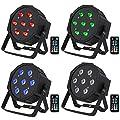 Led Stage Lights-4 pack, 70W RGBW Par Lights with DMX and Remote Control, Sound Activated DJ Par Can Stage Lighting for Indoor Uplighting Wedding Party Dj Lights
