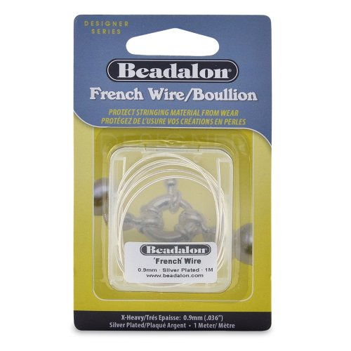 Beadalon French Wire 0.9mm Silver Plated, 1-Meter