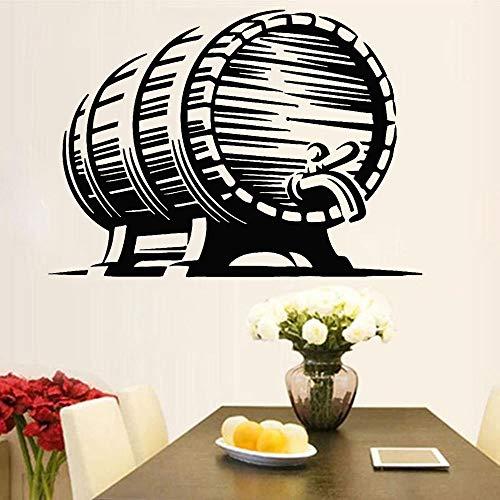 ASFGA Bierfass Bier Wandaufkleber Bar Vinyl Reparatur Selbstklebende Wandtattoo Bierfabrik Home Decoration 116x84cm