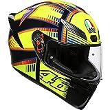 AGV Unisex-Adult Full Face K-1 Soleluna 2015 Motorcycle Helmet (Yellow/Black, X-Large)