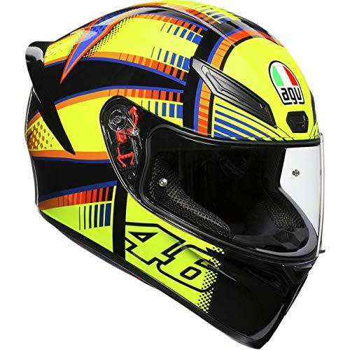 AGV Unisex-Adult Full Face K-1 Soleluna 2015 Motorcycle Helmet (Yellow/Black, Large)