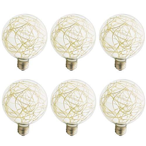 G95 Bunte Kupferdrahtbirne, LED / 3W / 220V / Speziallampen > Dekorative Leuchtmittel-Bunte blinkende LED-Glühbirne (6x)