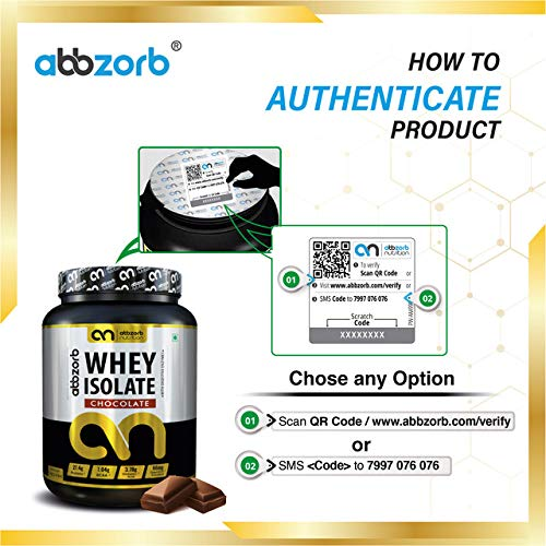 Abbzorb Nutrition Whey Isolate 27.4g Protein