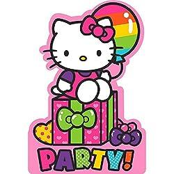 adorable hello kitty rainbow birthday party invitations - Hello Kitty Party Invitations