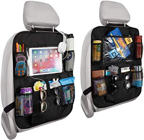 PUBAMALL Organizador para asiento trasero de automóvil y protector con señal de coche para bebé y bebés, asientos de tapicería...