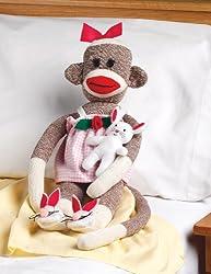 Janlynn 21-Inch Rosebud Sock Monkey Companions Kit