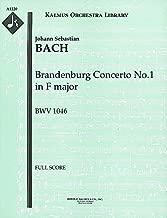 Brandenburg Concerto No.1 in F major, BWV 1046: Full Score [A1220]