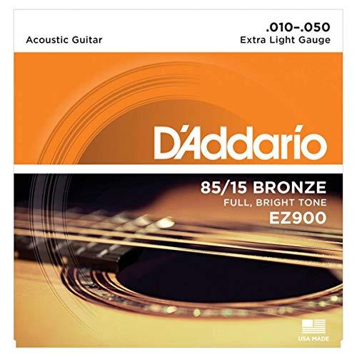 D'Addario EZ900 Set Corde Acustica EZ Great American, Bronzo