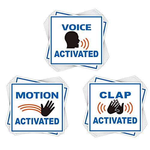 Fake Voice Motion & Clap Activated Sign Tags 60 Pack - Prank Stickers Funny Joke Labels - Practical Hilarious Sign Tags (Prank Stickers)