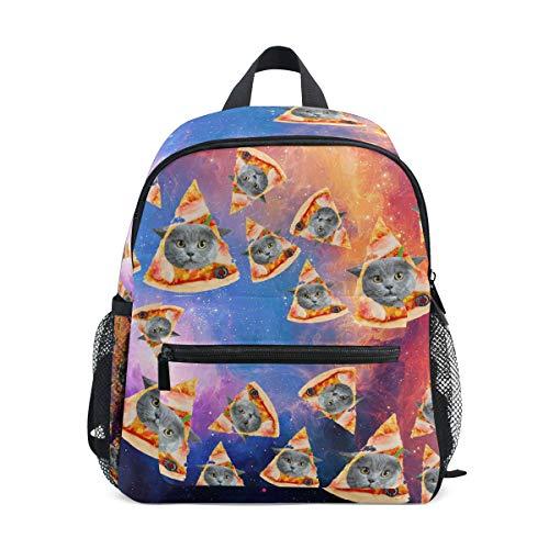 Fat Kitty Pizza Cat Galaxy Kid Backpack 12 inch Toddler Bookbag Travel School Bag