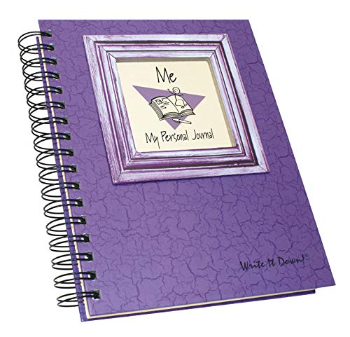 """Journals Unlimited """"Write it Down!"""" Series Guided Journal, Me, My Personal Journal, with a Purple Hard Cover, Made of Recycled Materials, 7.5""""x 9"""" Photo #7"""