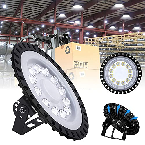 50W LED-UFO-Industrielampe,SMD 2835 5000LM LED Hallenstrahler,IP65 Wasserdicht LED Hallenleuchte Industrial Kronleuchter Hallenstrahler Hallenbeleuchtung Werkstattbeleuchtung,Kaltweiß 6000-6500K