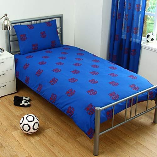 OFFICIAL BARCELONA FOOTBALL CLUB DUVET QUILT FCB BED SET Single Double CAMP NOU, (PATCH, SINGLE)