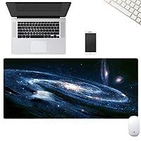 拡張大型コンピュータキーボード&マウスマット,オフィスデスクゲーミングマウスパッド じゃない-スリップ 防水 マウスパッド,ステッチエッジ-宇宙 80x30x0.5cm/31.5x11.8x0.19in
