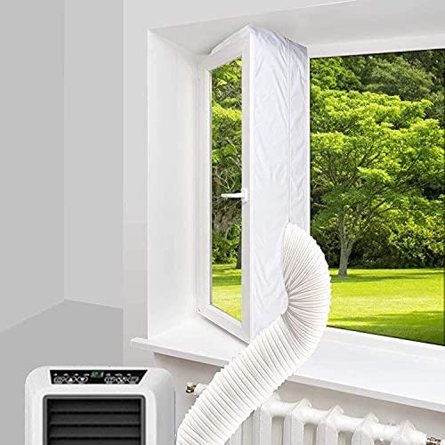 Fensterabdichtung für Mobile klimageräte,400CM Klimaanlage Fensterabdichtung für Klimaanlagen Wäschetrockner Ablufttrockner,Fensterabdichtung für Klimageräte Mobil Klimaanlag Fensterabdichtung
