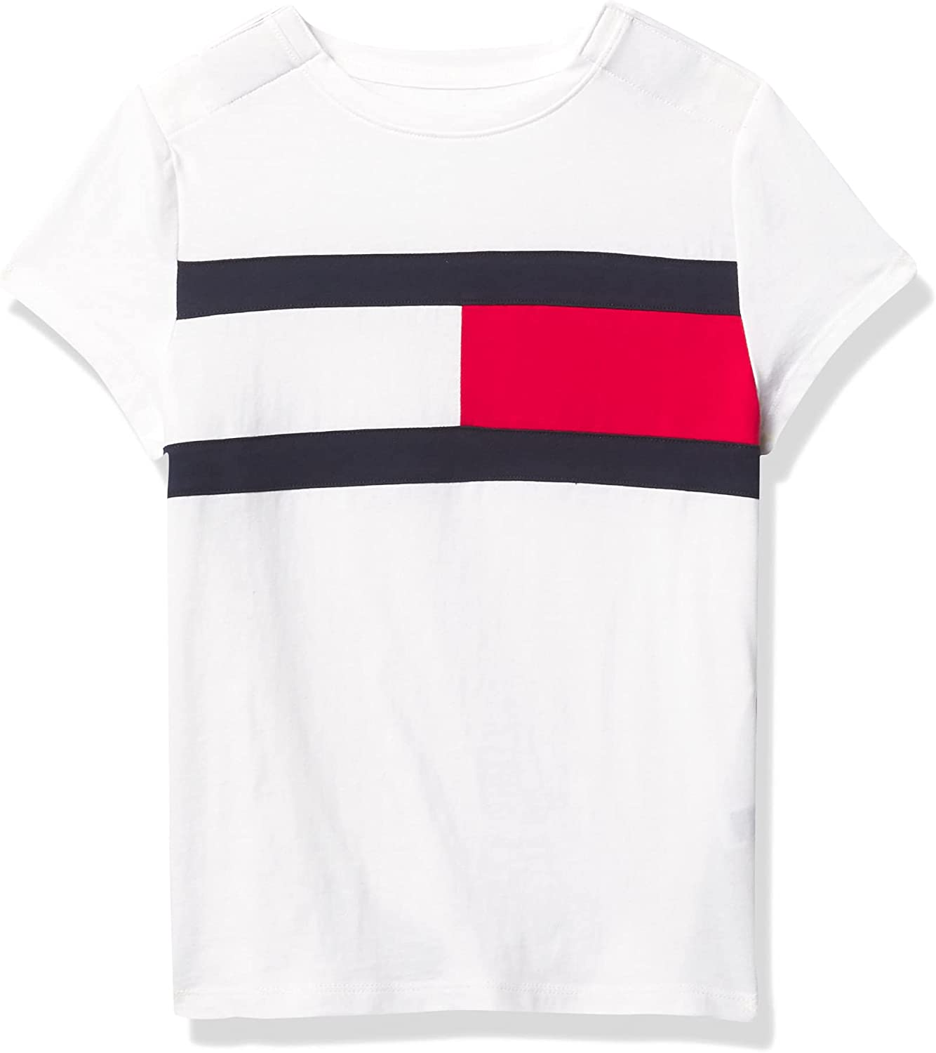 Tommy Hilfiger Adaptive Tommy Hilfiger Girls' Adaptive T-Shirt with Velcro Brand Closure at Shoulders