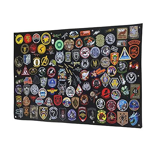Panneau d'affichage tactique avec crochet et boucle pliable pour armée militaire Noir 108 x 70 cm