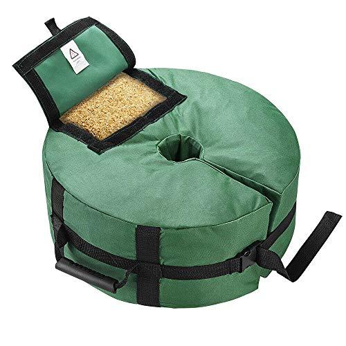 Iwinna [UK Stock] 41cm Umbrella Parasol Base Weight Bag Patio Sunshade Tent Outdoor Stand Green