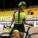 XCHJY con Ciclismo Traje Pro Team Triathlon de Las Mujeres determinadas Ciclismo Jersey Mono de una Pieza de Manga Corta del Gel del Sistema Pad (Color : 6, Size : Small)