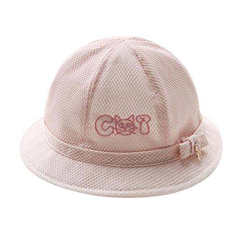 Lovely Sunhat Grand cadeau chapeau de plage pliable Chapeau d'été Bonnet de coton Bonnet de bébé ros