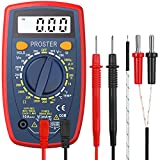 Multímetro Digital 1999 Portátil Polimetro con Cable de Prueba Mini Voltímetro Amperímetro...