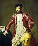 JH Lacrocon Titian - Alessandro Alberti Página Reproducción Cuadro sobre Lienzo Enrollado 75X90 cm - Pinturas Retrato Impresións Decoración Muro