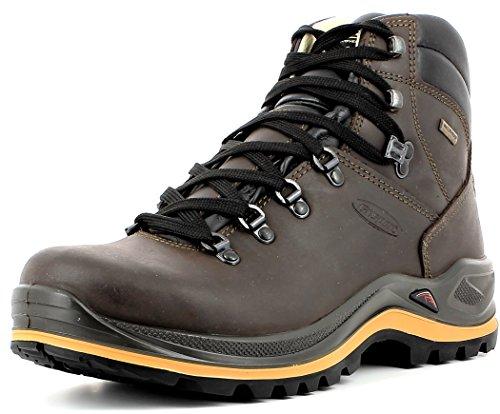 Grisport Unisex Schuhe Herren und Damen aus der Ranger Linie, Trekking- und Wanderstiefel aus hochwertigem Leder, Membrankonstruktion EU 43,Braun Spotex