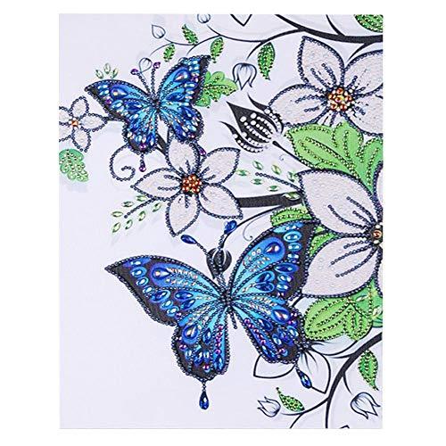 Diamante Pintura Bordado Paisaje Casa Insecto Patrón Rhinestone Pegado DIY Punto de Cruz para la Decoración Casera 4 Tipos(4#)