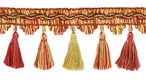 Check Out This DÉCOPRO 18 Yard Value Pack of Veranda Collection 3.5 Inch Tassel Fringe Trim - Beach...