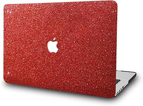 RQTX Brillante como un Rojo Diamante Funda para portátil MacAir de 11 Pulgadas Modelo A1465 A1370 Carcasa de plástico Duro (Rojo Brillante)
