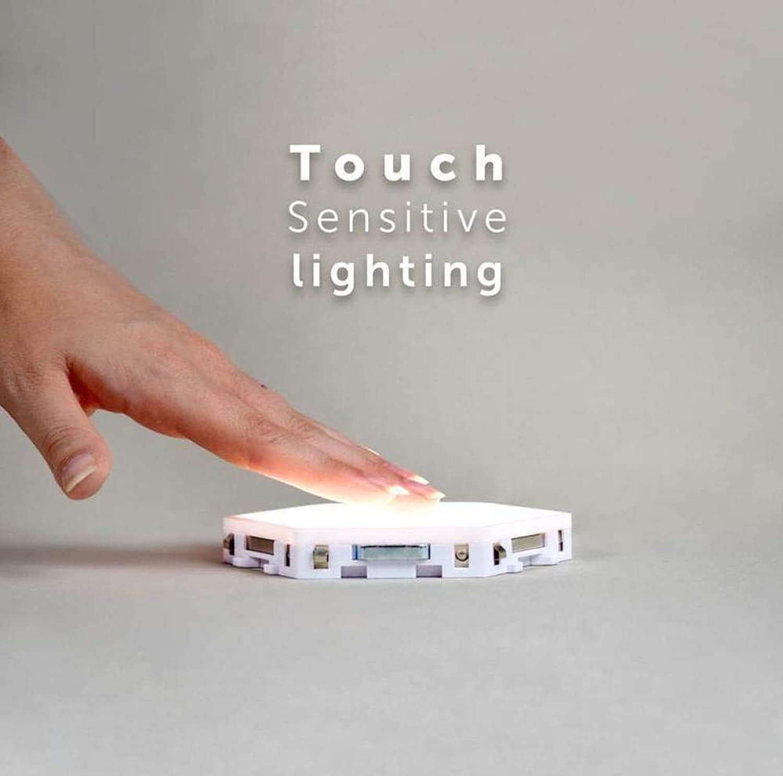 Anan LED Quantum Lampe Sechseckige Lampen Modulare Berührungsempfindliche Beleuchtung Nachtlicht Magnetische Sechsecke Kreative Dekoration Wand,Three