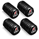 4 Pieces of Black car Wheel tire Valve stem Cover-Automatic Valve stem Cover Suitable for TRD Racing Development Sequoia Tundra Tacoma 4Runner PRO Series Metal Modeling Decoration Accessories