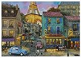 A Walk in Paris - Kit de punto de cruz (400 x 285 puntadas, 82 x 64 cm)